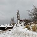 Point Betsie In Winter by Linda Kerkau