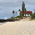 Point Betsie Lighthouse Classic View by Dave Zuker
