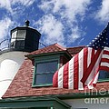 Point Betsie Lighthouse with Flag