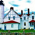 Point Iroquois Lighthouse by Daniel Thompson