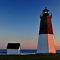 Point Judith- Sidelit At Sunset by Thomas Schoeller