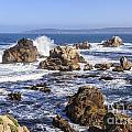Point Lobos Rocks And Waves by Ken Brown