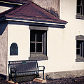 Point Wilson Lighthouse Bench by Joan Carroll