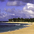 Poipu Beach In Kauai by Les Palenik