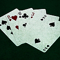 Poker Hands - High Card 4 by Alexander Senin