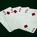 Poker Hands - Straight Flush 4 by Alexander Senin