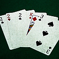 Poker Hands - Three Of A Kind 1 by Alexander Senin