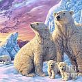 Polar Bear Family by Steve Read