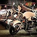 Police Bikes In New York by Sam Garcia