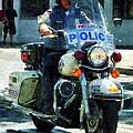 Police - Motorcycle Cop by Susan Savad