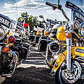 Police Motorcycle Lineup by Eleanor Abramson