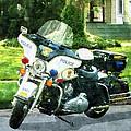 Police - Police Motorcycle by Susan Savad