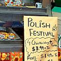 Polish Food Street Stand by Valentino Visentini