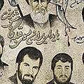 Political Religious Mural Teheran Iran With Ayatollah Khomeini by Jacek Malipan