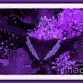 Polka Dot Butterfly Purple by Barbara Griffin