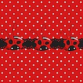 Polka Dot Lady Bugs Graphics By Kika Esteves  With Custom Coordinated Design Crafted By D Miller.  by Debra  Miller