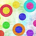 Polka Dot Panorama - Rainbow - Circles - Shapes by Andee Design
