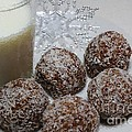 Polka Dot Snow Balls And Milk by Barbara Griffin