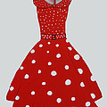 Polka Dotted Red Dress by Robin Maria Pedrero