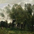 Pollard Willows by Jean-Baptiste-Camille Corot