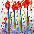 Pollinating Poppies by Patricia Lazaro