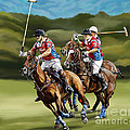 Polo Game Horses by Tim Gilliland