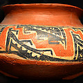Polychrome Pottery 1100 Ad by David Lee Thompson