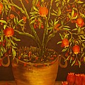 Pomegranate Tree Of Love-original Sold- Buy Giclee Print Nr 28 Of Limited Edition Of 40 Prints   by Eddie Michael Beck
