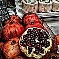 Pomegranates In Open Market Art II by Lesa Fine