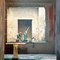 Pompeii Courtyard by Marna Edwards Flavell