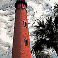 Ponce Lighthouse Artistic Brush by G L Sarti