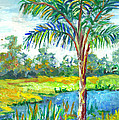 Pond And Palm by Lou Ann Bagnall