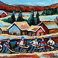 Pond Hockey 2 by Carole Spandau