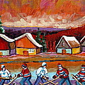 Pond Hockey Game 2 by Carole Spandau