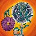 Pondering Creation - Spinning Vines Of Time by Barbara St Jean