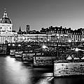 Pont Des Arts And Institut De France / Paris by Barry O Carroll