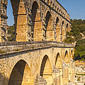 Pont Du Gard Roman Aquaduct Languedoc-roussillon France by Colin and Linda McKie