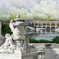 Pont Du Gard Roman Aqueduct by Catf