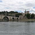 Pont Saint Benezet And Pope Palace by Christiane Schulze Art And Photography