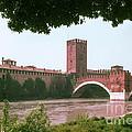 Pont Scaligero On Adige River by Bob Phillips