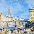 Ponte Santa Trinitia Florence by James Duffield Harding