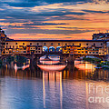 Ponte Vecchio At Sunset by Michele Steffey