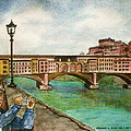 Ponte Vecchio Florence Italy by Frank Hunter