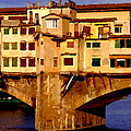 Ponte Vecchio In Florence by Jacqueline M Lewis