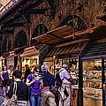 Ponte Vecchio Merchants - Florence by Jon Berghoff