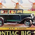Pontiac Big Six - Poster by Roberto Prusso
