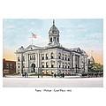Pontiac Michigan - Ponitiac Court House - 1910 by John Madison