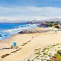 Ponto Beach Carlsbad California by Mary Helmreich