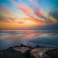 Ponto Jetty Sunset - Square by Larry Marshall