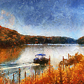 Pontoon Boat Photo Art 02 by Thomas Woolworth